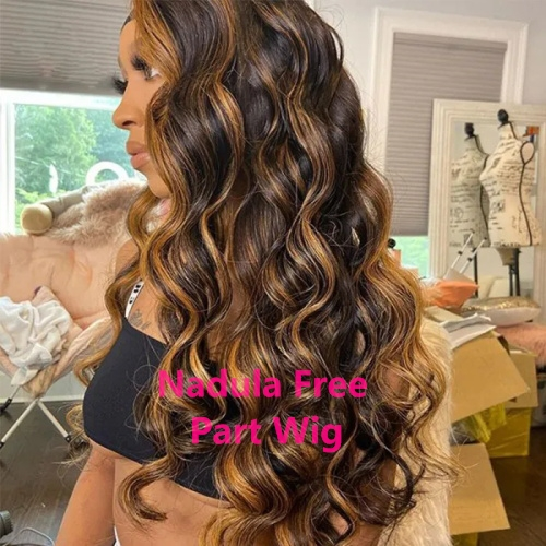 Colored Ombre Human Hair Wig
