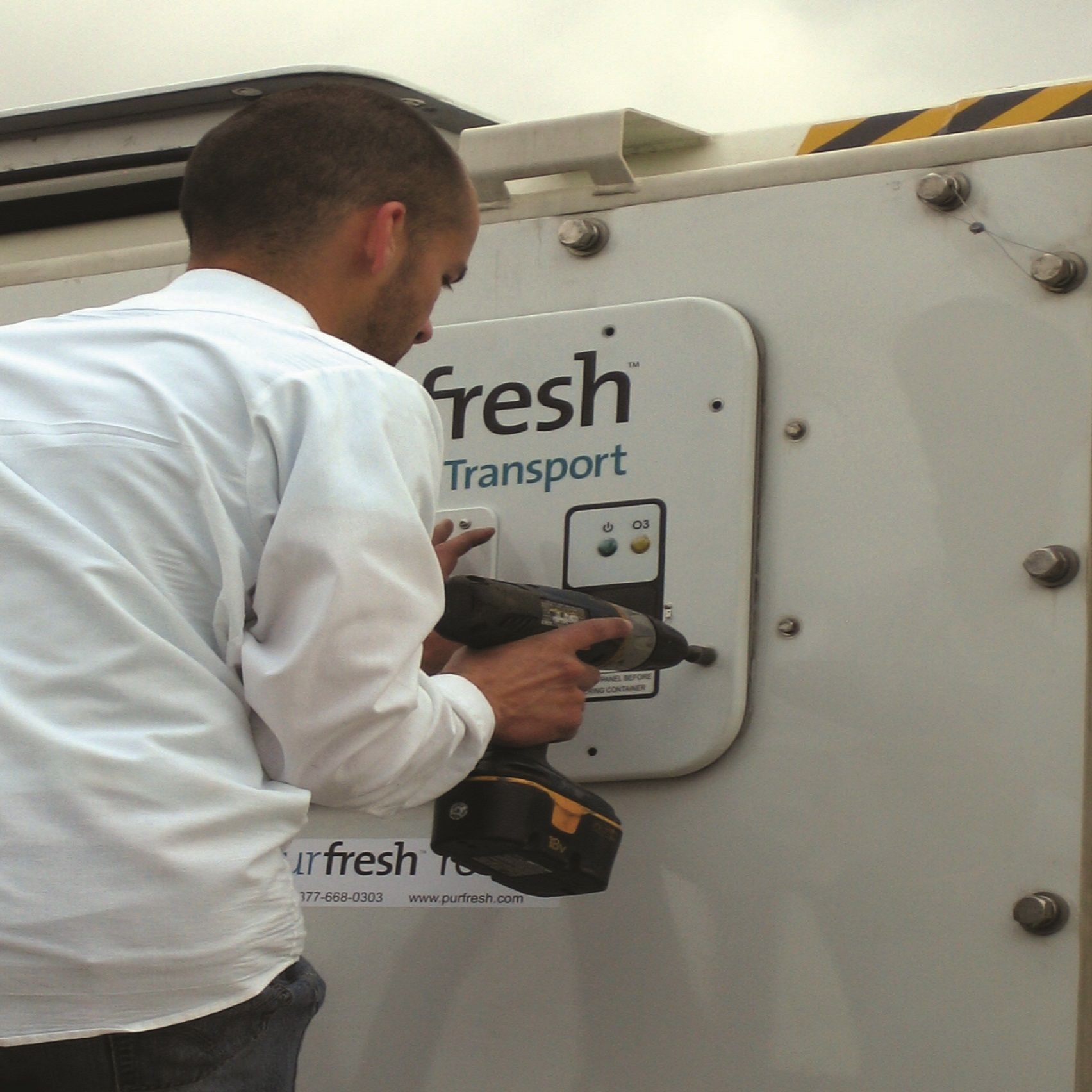 Purfresh Installation On Container